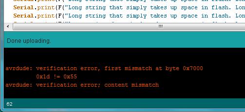 Так выглядит ошибка при проверке в Arduino IDE