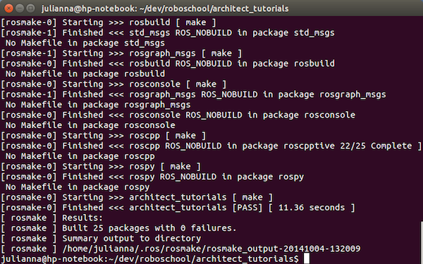 Компиляция пакета ROS