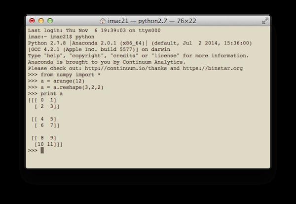 Пример использования NumPy