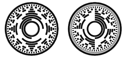 Поворот 8-битного диска с кодом Грея