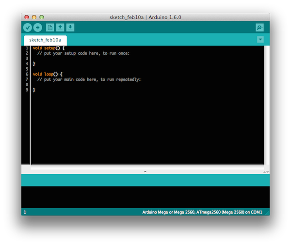Внешний вид Arduino IDE 1.6