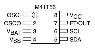 Распиновка M41T56