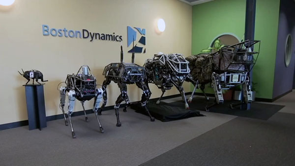 Линейка четвероногих роботов Boston Dynamics