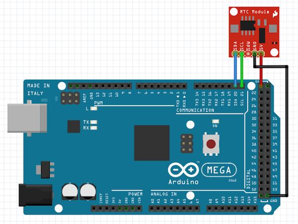 Подключение модуля RTC к Arduino