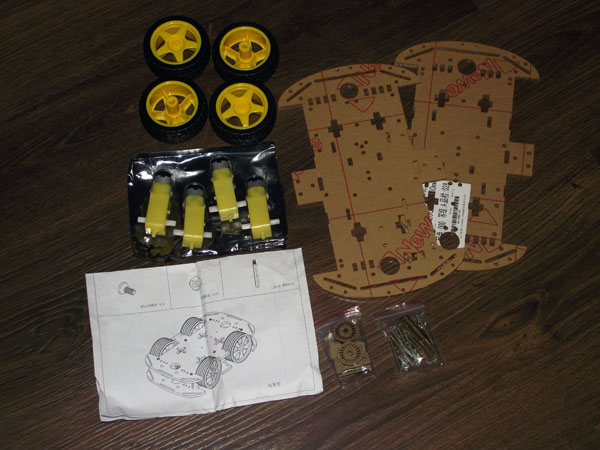 Smart car chassis 4WD kit