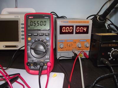 Стабилизированное напряжение 0.55В