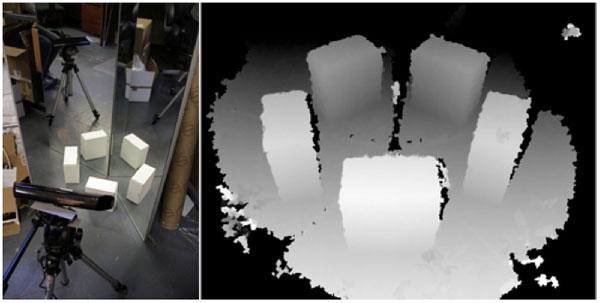 3D-сканирование при помощи Kinect и системы зеркал