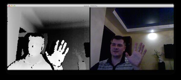 Изображения RGB и глубины с Kinect