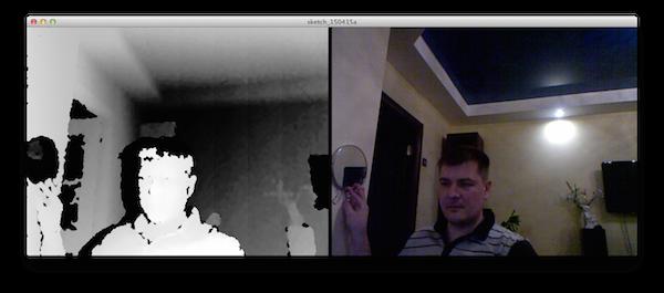Влияние отражений на карту глубины Kinect