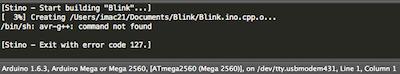 Сообщение об ошибке при использовании Sublime Text и Arduino IDE 1.6.3