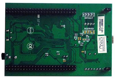 Вид снизу оценочной платы STM32F407 Discovery