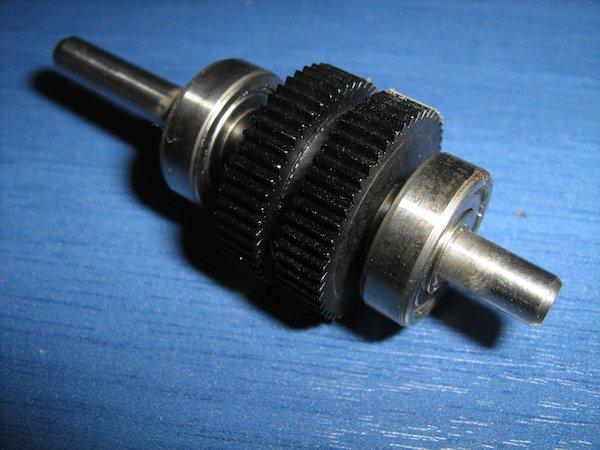 Размещение дисков на гибридном шаговом двигателе