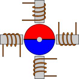 Шаговый двигатель с постоянным магнитом