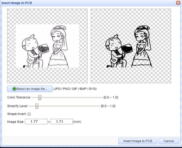 Вставка графического изображения в EasyEDA